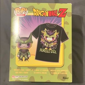 Perfect cell funko pop and large t shirt GameStop